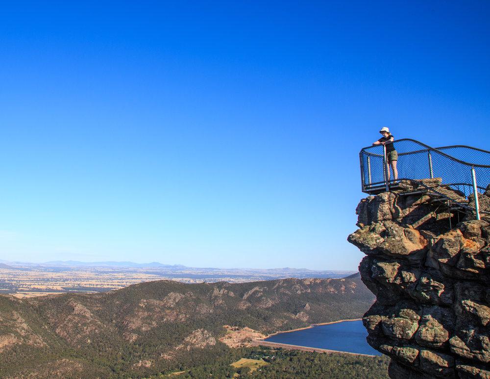 Pinnacle lookout in the Grampians, Australia