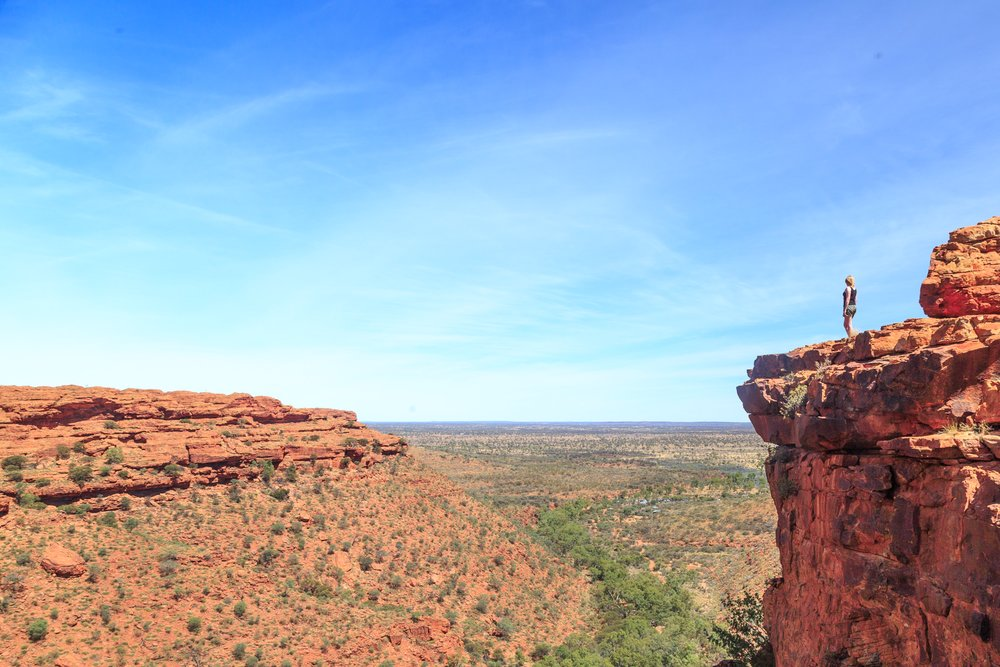 Instagrammable spots in the Outback: Kings Canyon Rim Walk