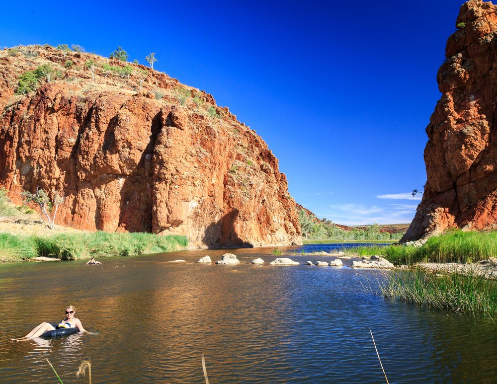Instagrammable spots in the Outback: Tubing at Glen Helen