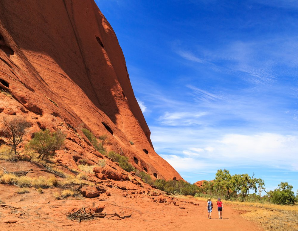 Instagrammable spots in the Outback: Base walk at Uluru