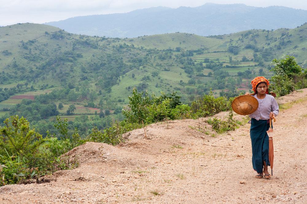Myanmar Destinations: Kalaw to Inle Lake Walk