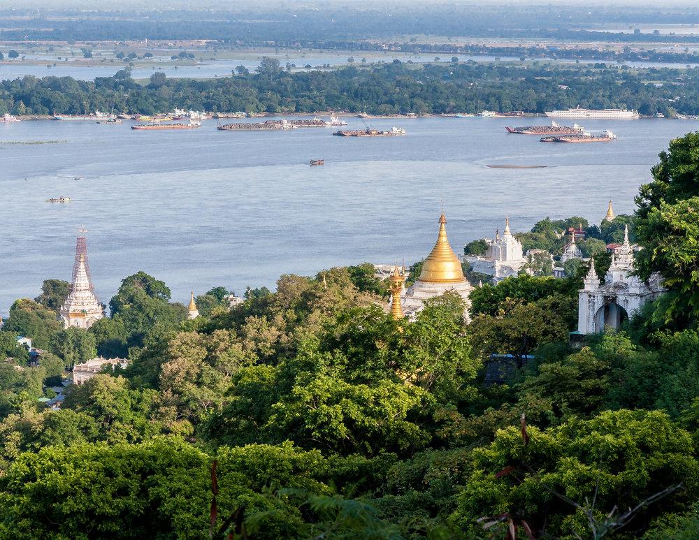 Sagaing Hill, Myanmar (Burma)