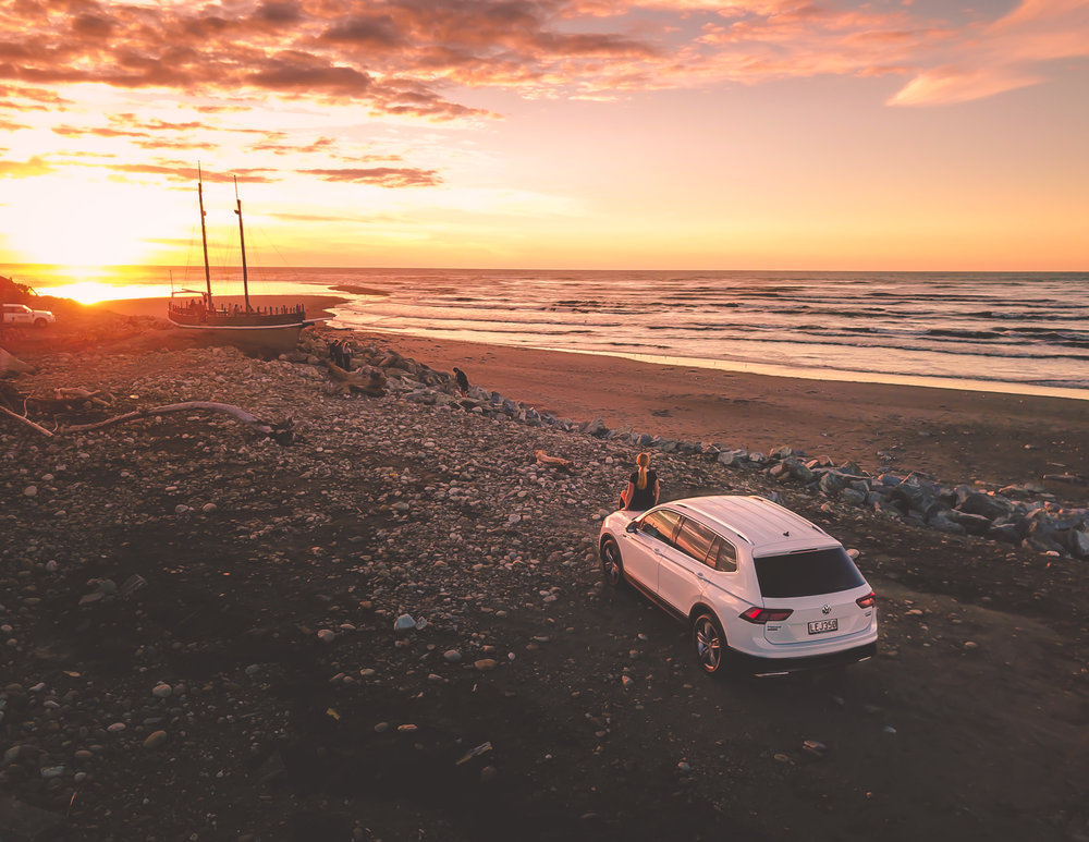 Sunset Point, Hokitika, New Zealand