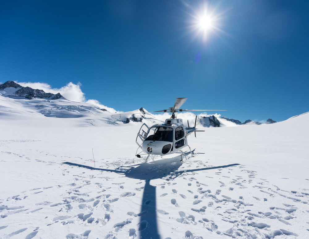 Helicopter on Franz Josef Glacier, New Zealand