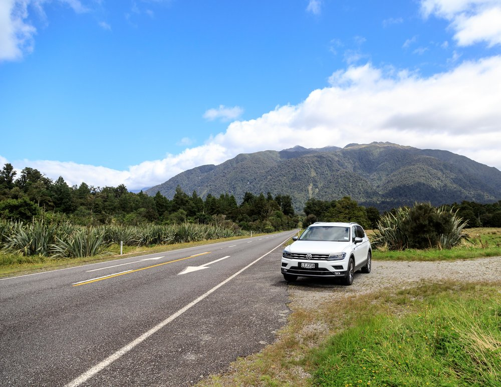 The road to Haast, New Zealand