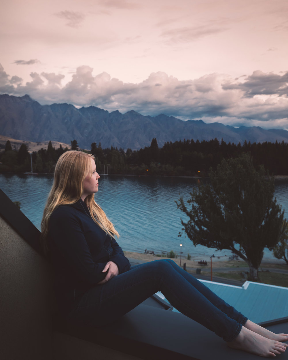 The view from Hotel St Moritz, Queenstown