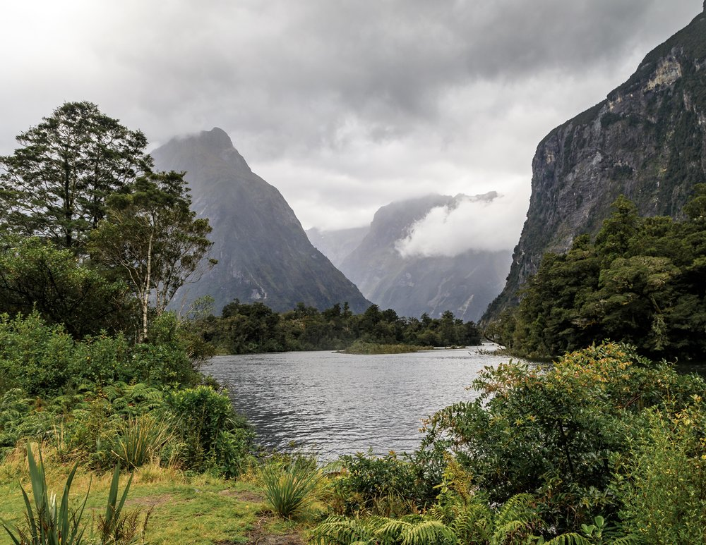 The first glimpse out to Milford Sound from Sandfly Point