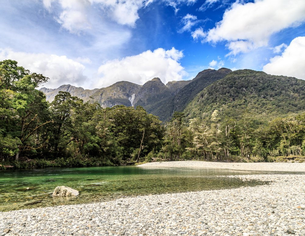 Clinton River, just outside Clinton Hut, The Milford Track