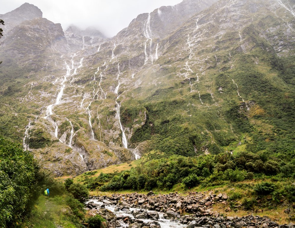 Waterfalls on the Milford Track