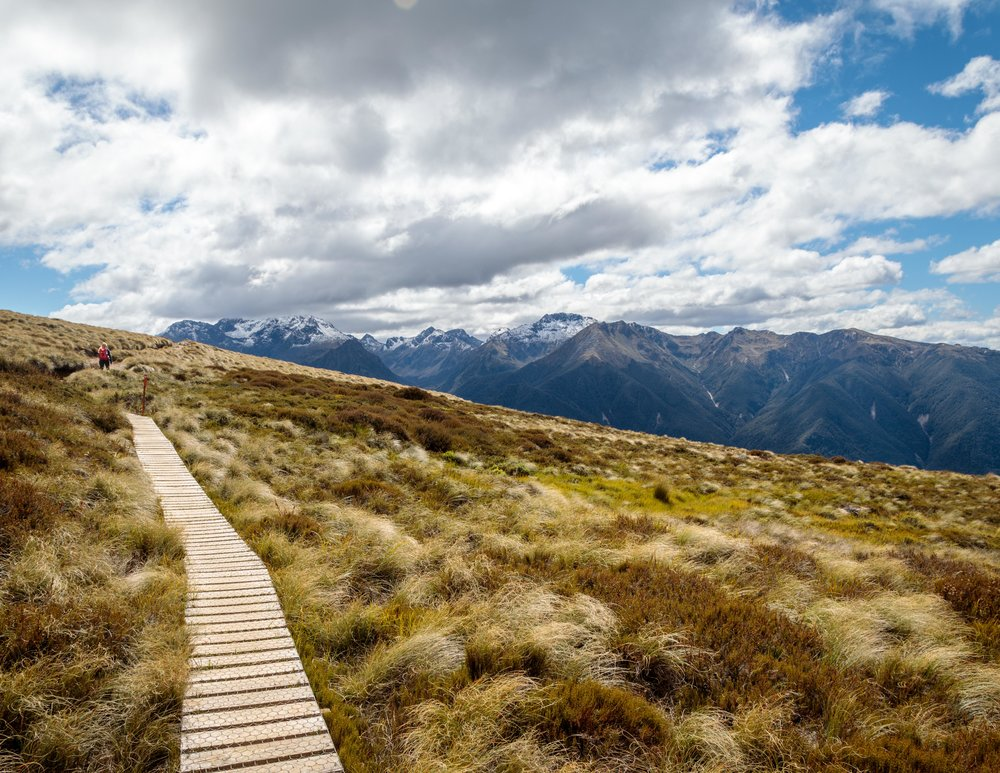 The hike to Luxmore Hut