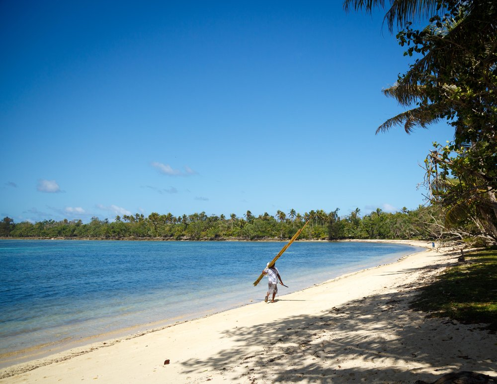 Walk on the beach at Port Vila, Vanuatu