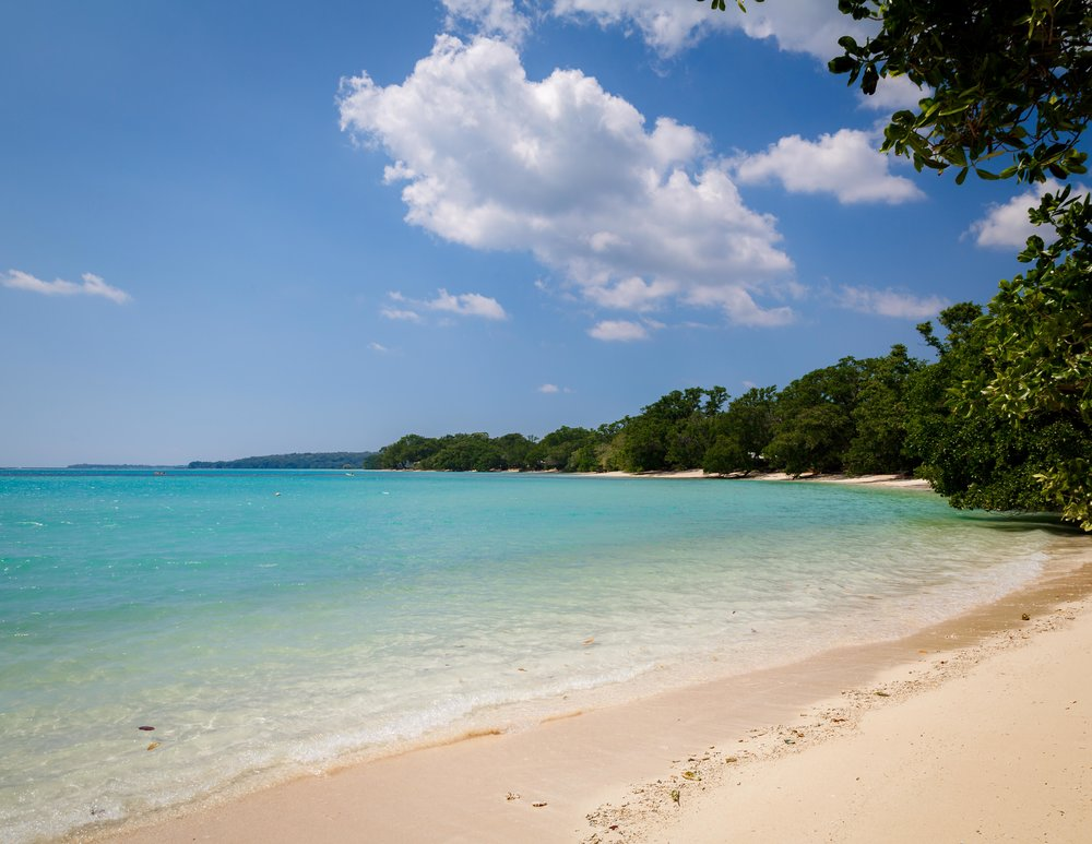 The beach by Moyyan by the Sea, Espiritu Santo, Vanuatu