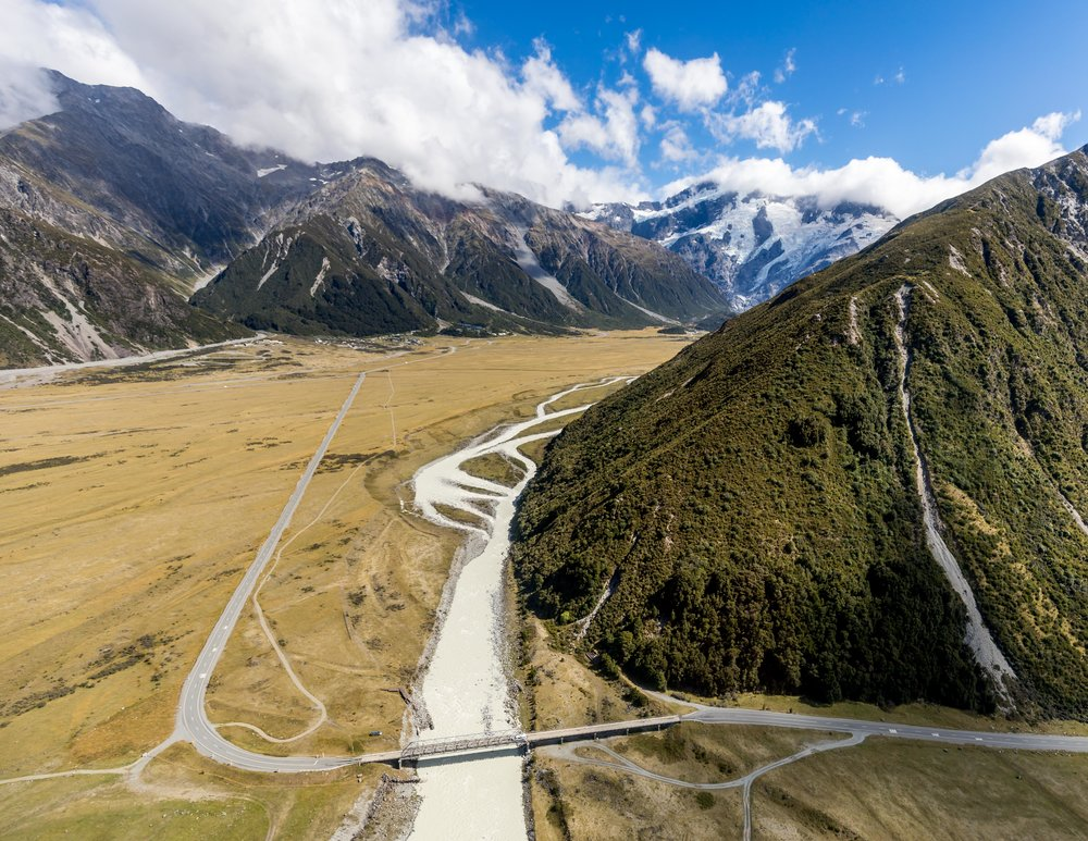Helicopter flight over Mount Cook