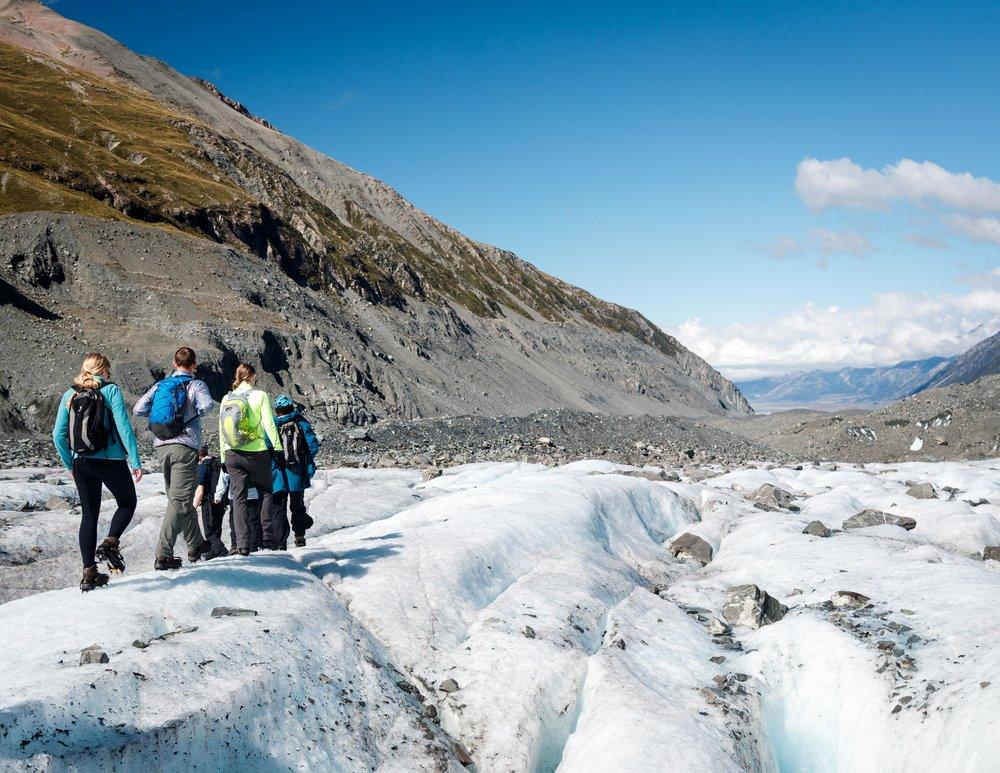 Mount cook heli-hike on the Tasman Glacier