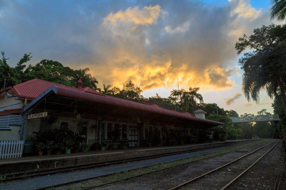 Train station at Kuranda
