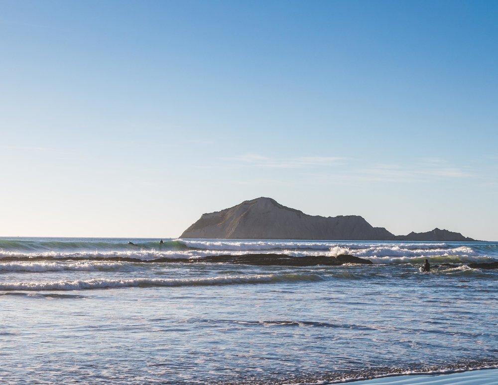 The surfers at Waimarama Beach, Hawkes Bay