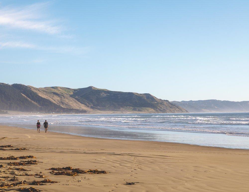 Early morning stroll at Waimarama Beach, Hawkes Bay