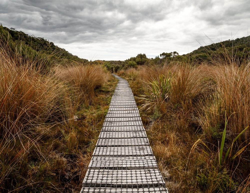 Boardwalk to James Mackay Hut