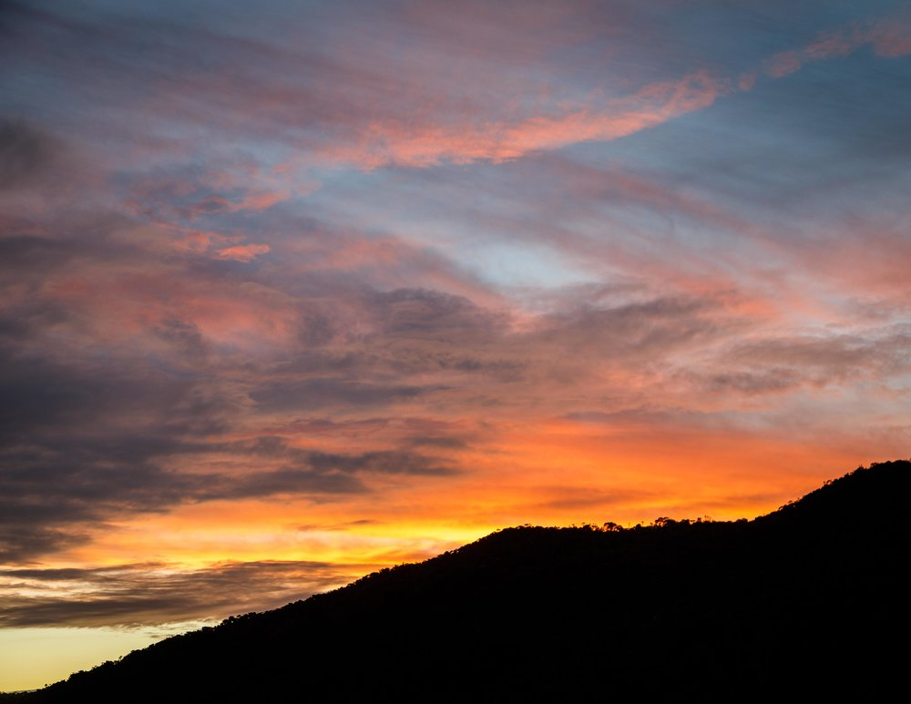 Sunset at James Mackay Hut