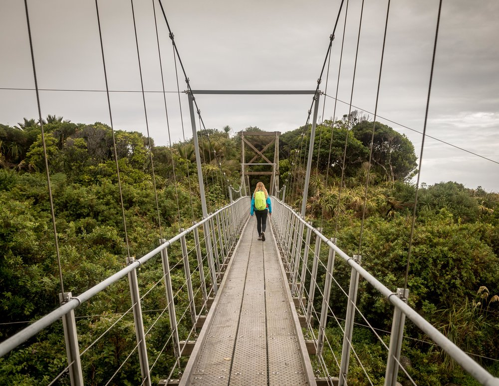 One of the final suspension bridges on the Heaphy Track