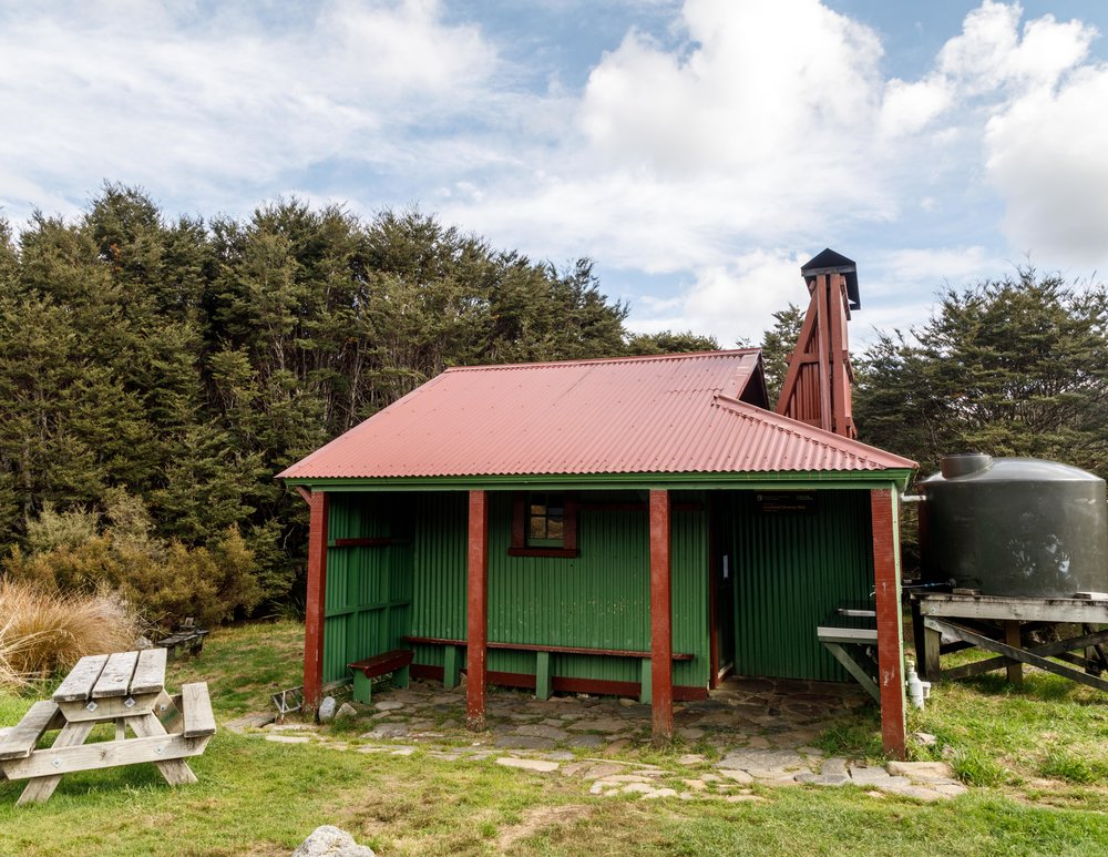 Gouland Downs Hut: one of the older huts on the track