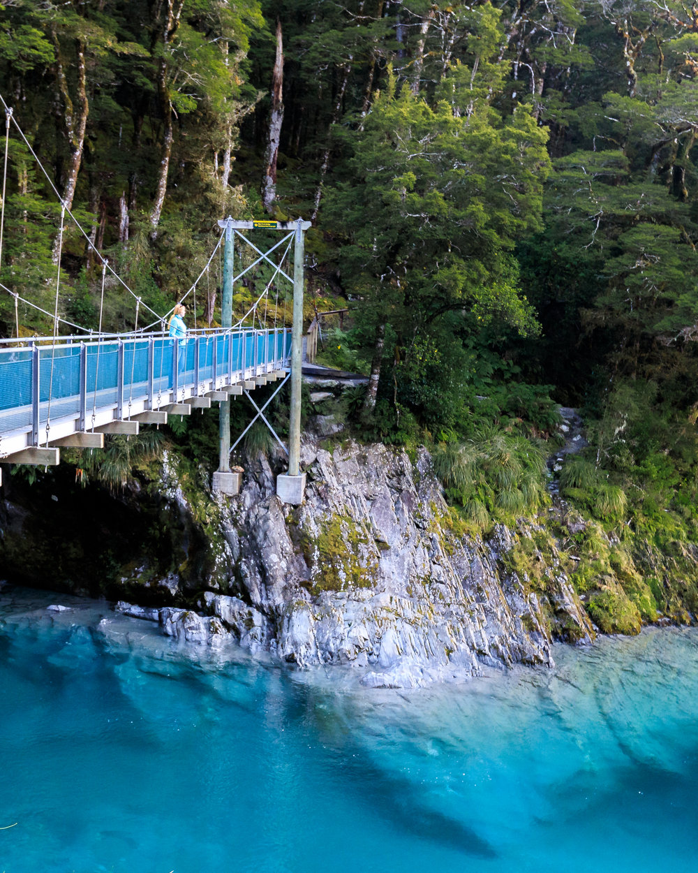 Instagrammable spots in New Zealand: Haast Blue Pools