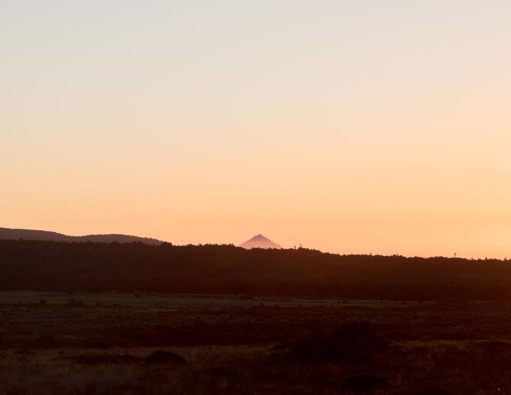 Mount Taranaki in the distance