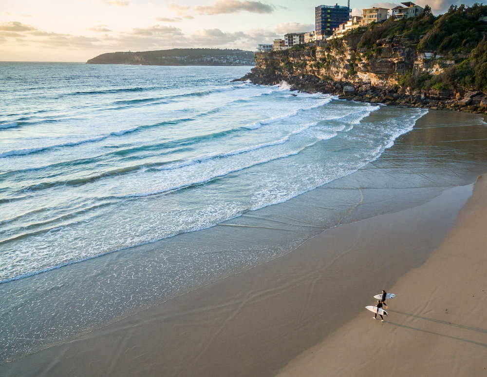 Freshwater Beach at Sunrise, Sydney