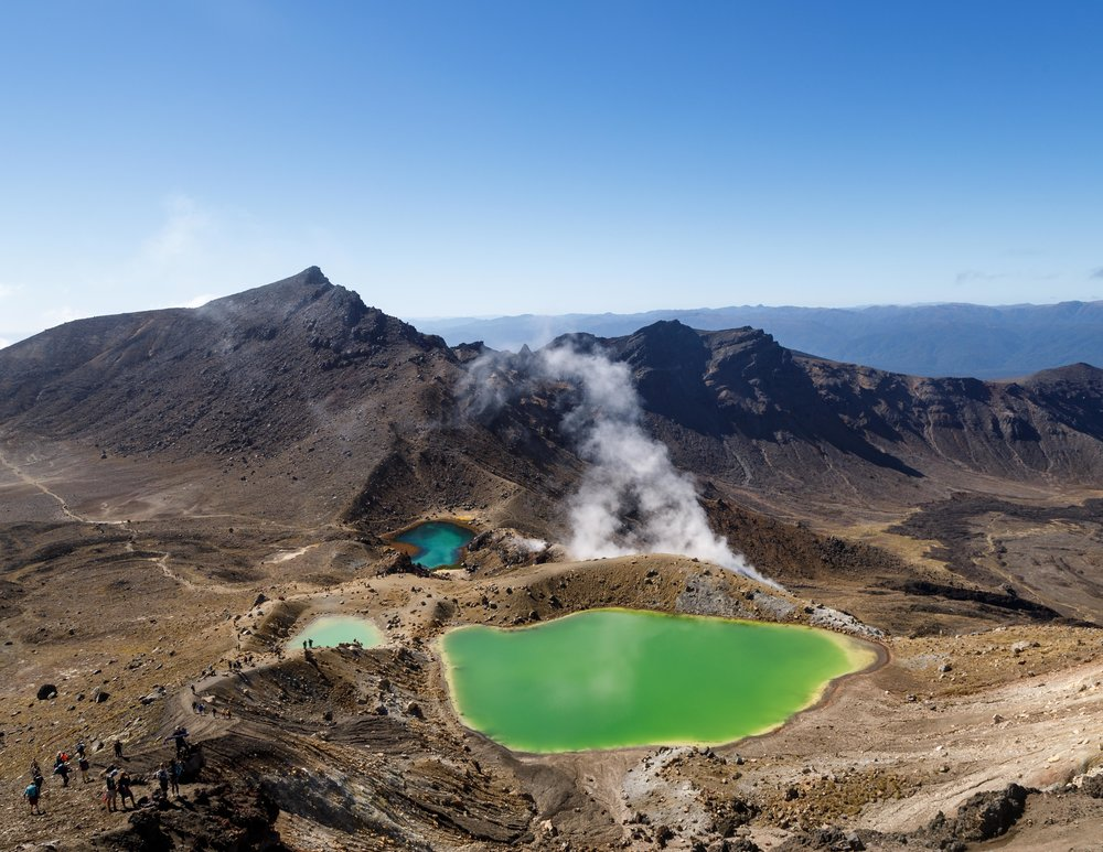 The Emerald Lakes on the Tongariro Northern Crossing