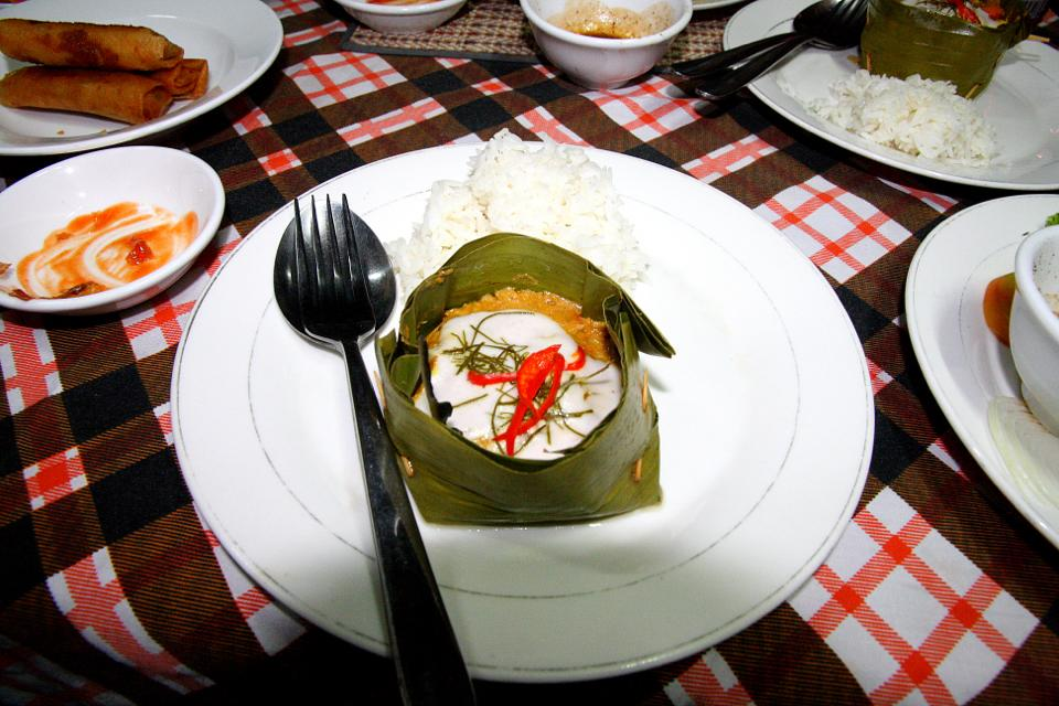 The usual Cambodia cuisine: Amok Curry