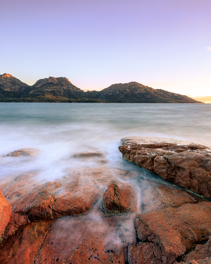 Two week Tasmania Itinerary: Sunset at Coles Bay