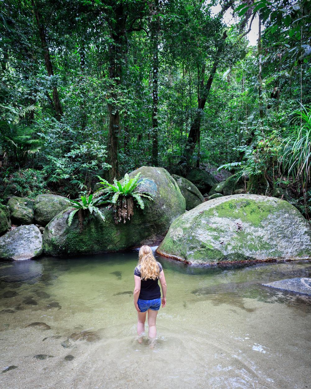 Instagrammable spots Cairns: Mosman Gorge