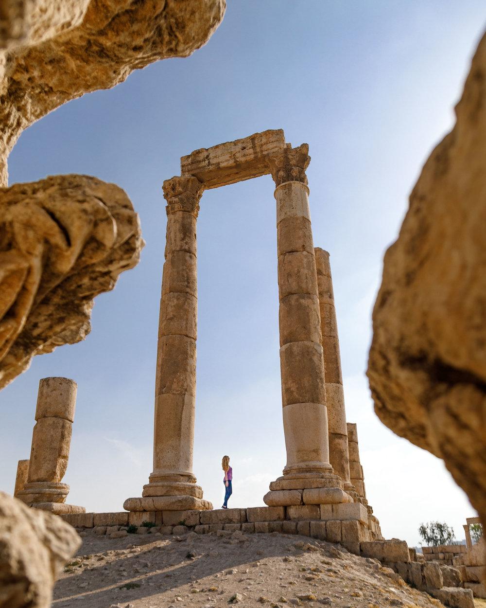 Instagrammable spots in Jordan - The Citadel