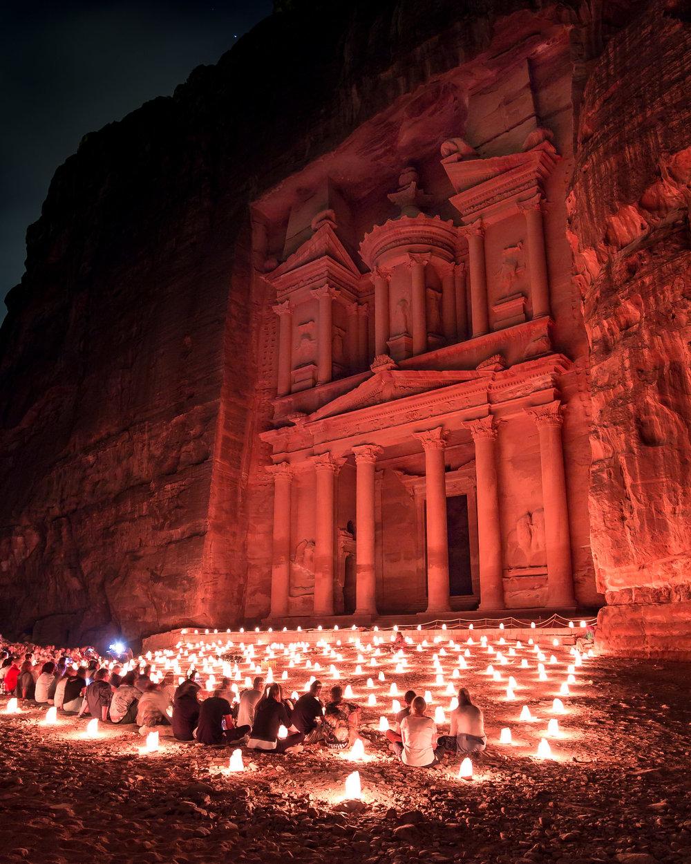 Instagrammable Jordan - Petra By Night
