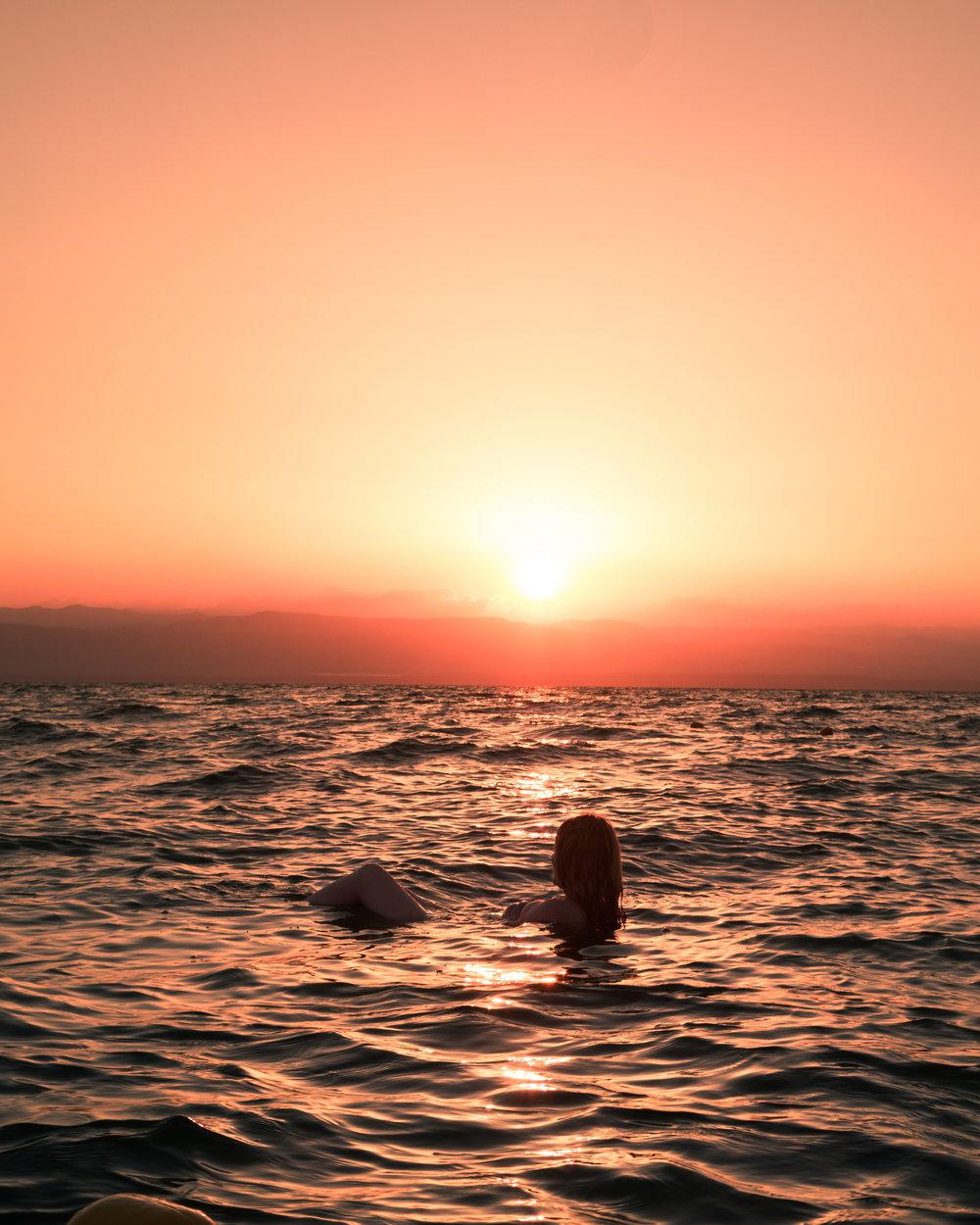 Instagrammable spots in Jordan - Floating in the Dead Sea