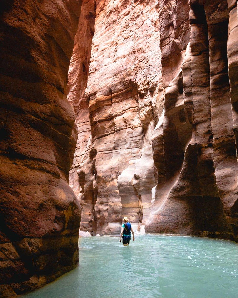 Instagrammable spots in Jordan - Wadi Mujib