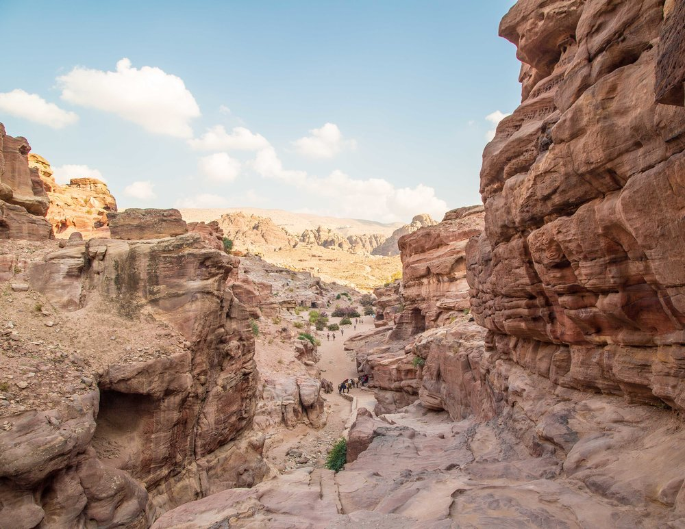 Little Petra to Monastery Walk: returning to Petra