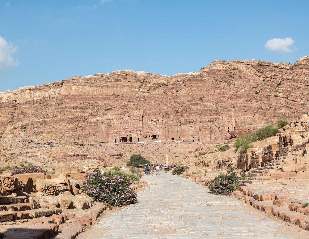 Little Petra to Monastery Walk: the Colonnaded Streets