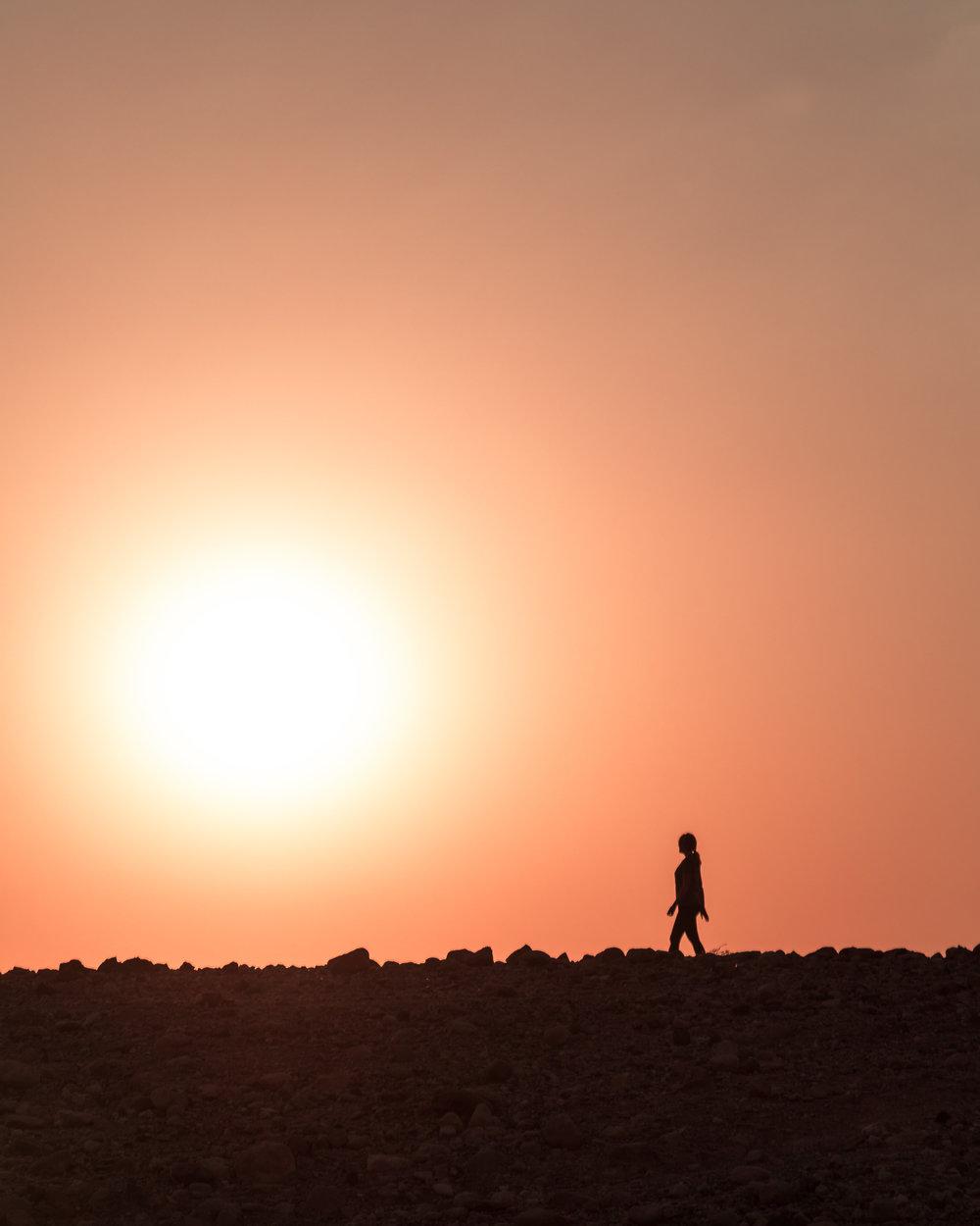 Instagrammable spots in Jordan - Sunset at Feynan