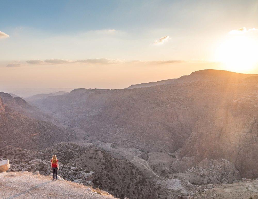 Dana Biosphere Reserve: Sunset lookouts