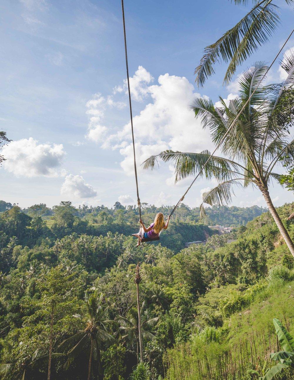 Bali Itinerary 7 days: Bali Swing