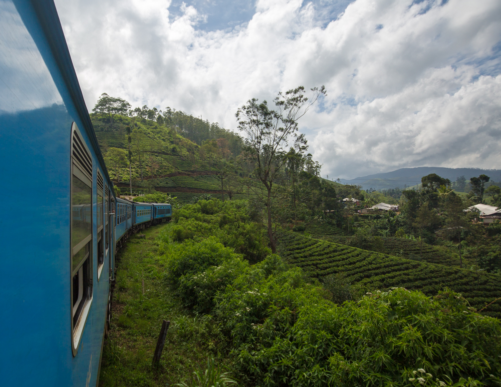 The train to Nuwara Eliya