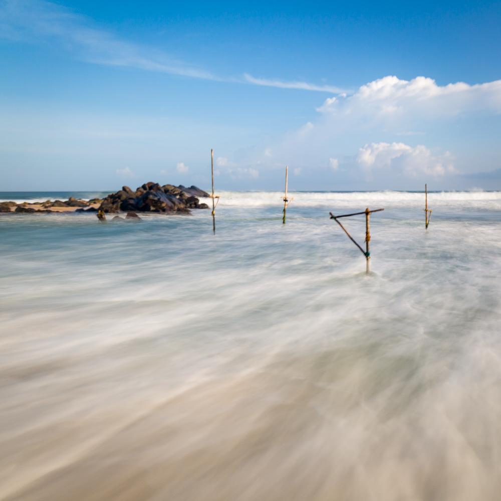 The stilt-fishermen in low season