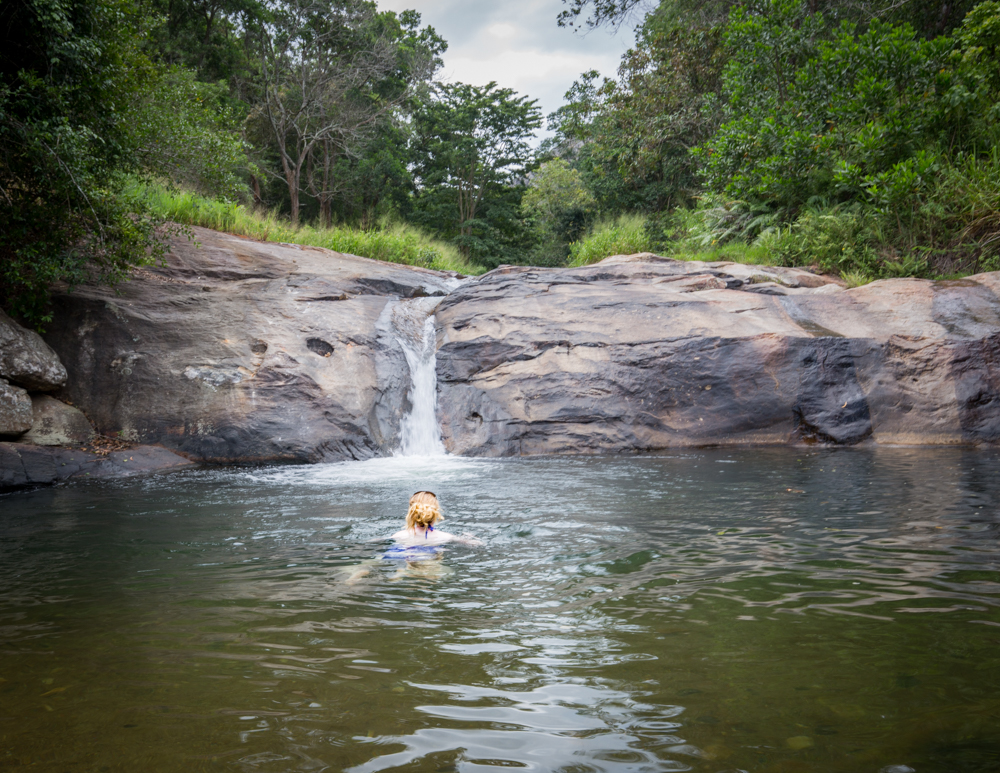 The upper pools at Diyaluma Falls
