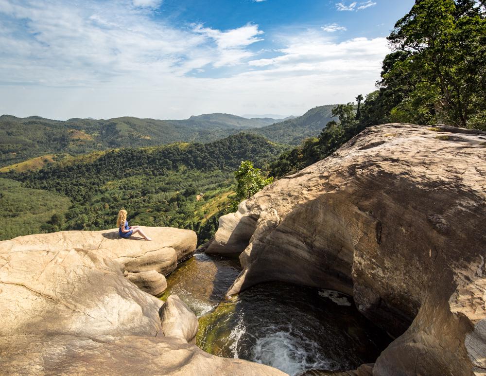 The top of Diyaluma Falls, Sri Lanka
