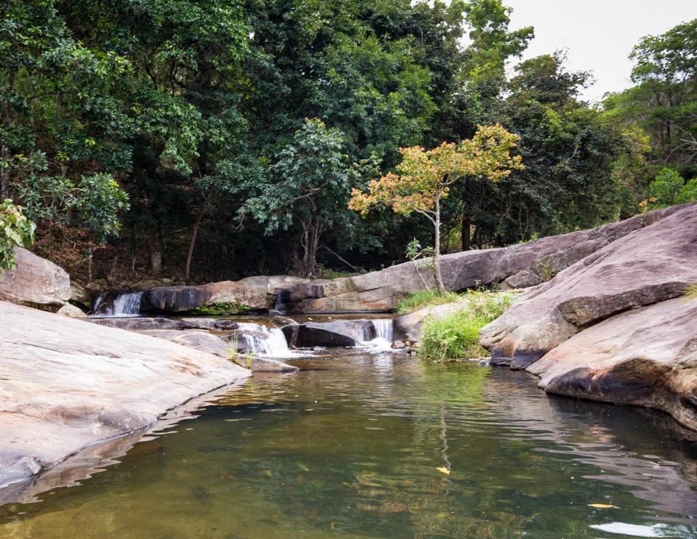 The Upper pools at Diyaluma Falls, Sri Lanka