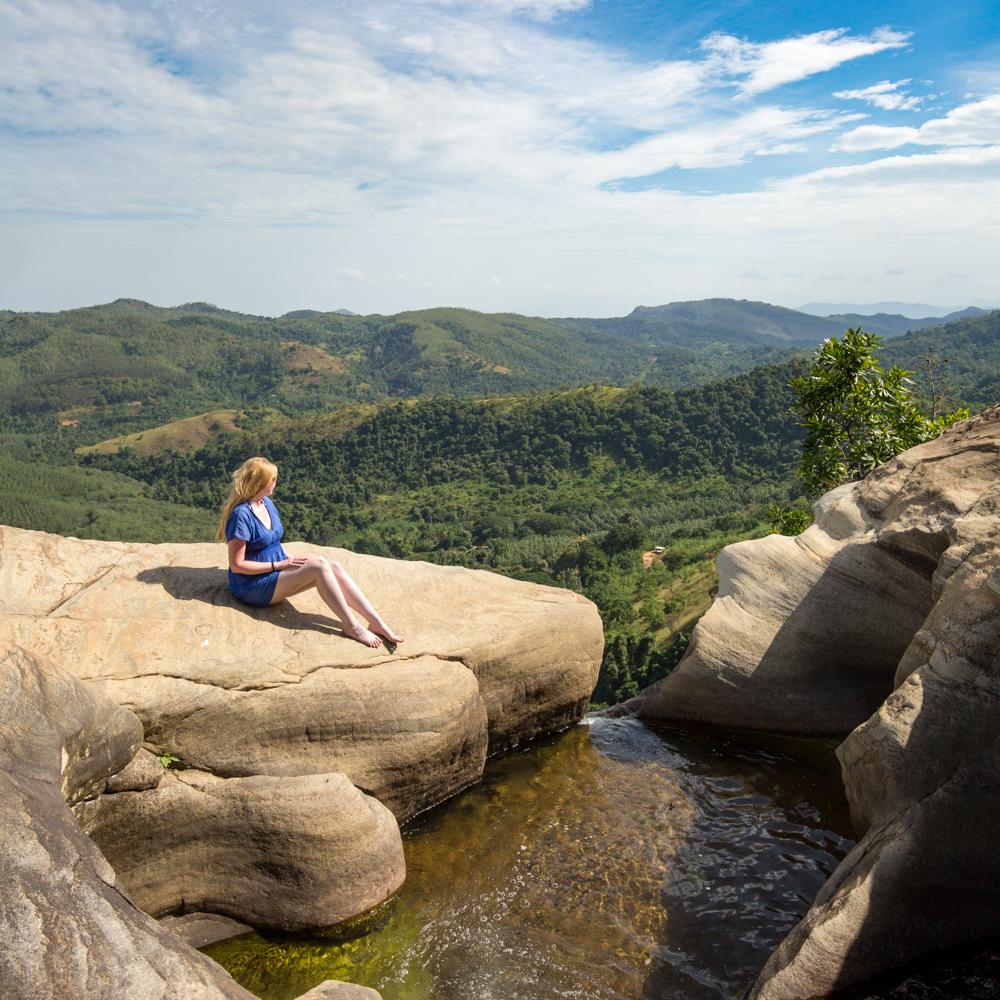 The hike to the top of Diyaluma Falls, Sri Lanka