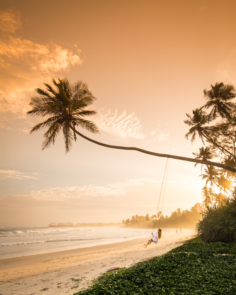 Instagrammable Sri Lanka - Dikwella Beach Swing