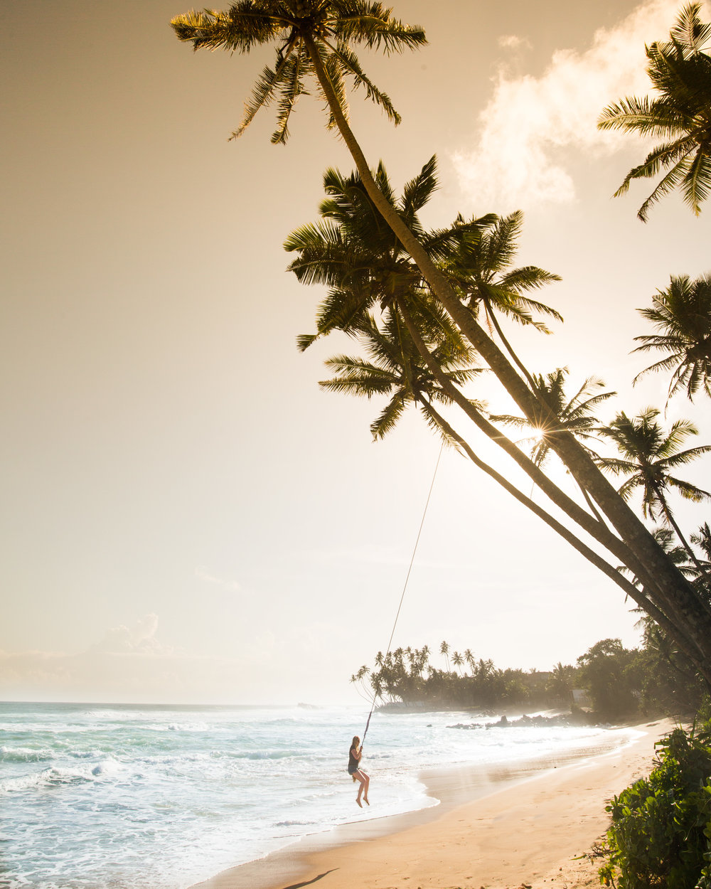 The swing at Mihiripenna Beach, Sri Lanka