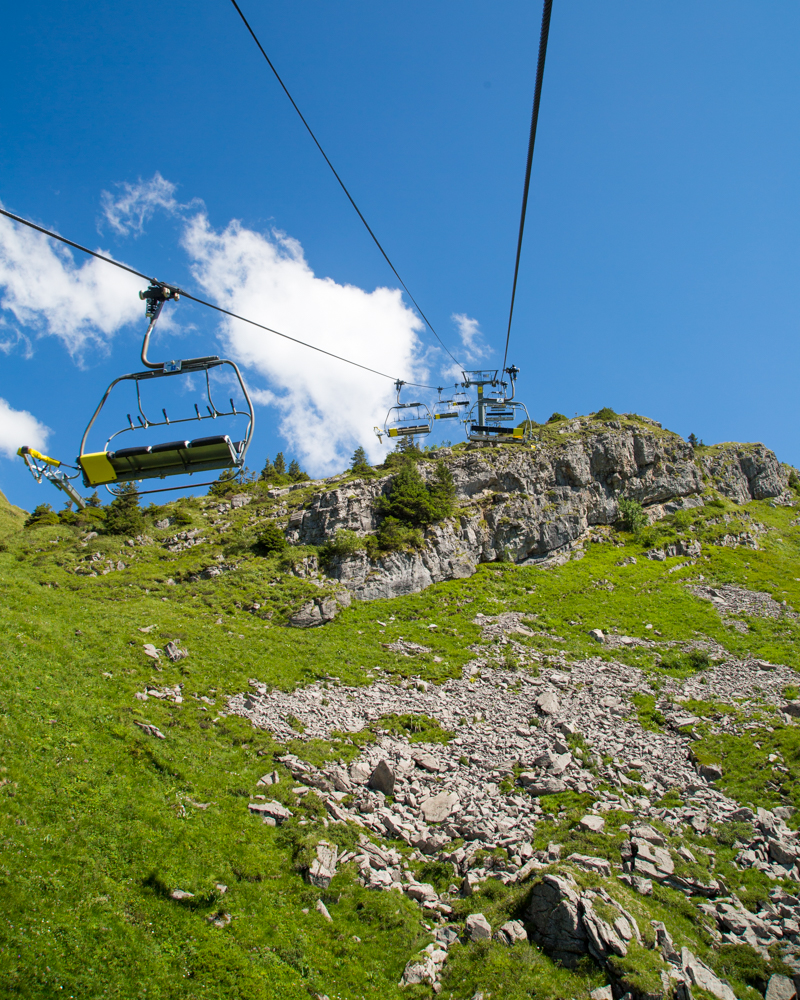 Things to do in Morzine in the Summer - Chair lift to switzerland